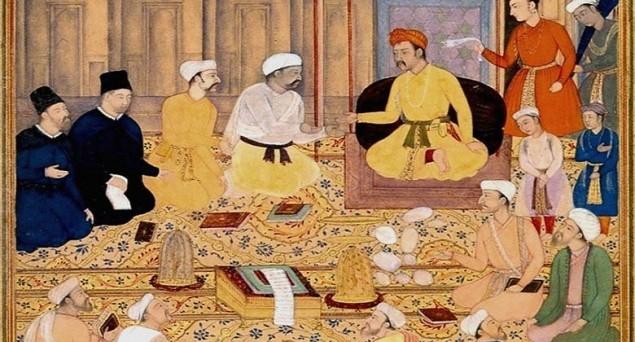 Akbar (1556-1605) and his council