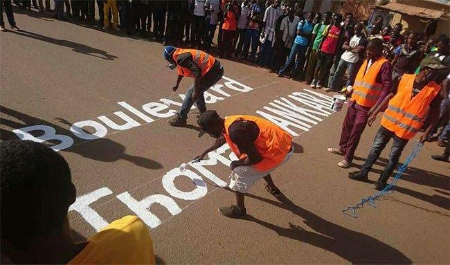 Ouagadougou : l'avenue Charles De gaulle, rebaptisée boulevard Thomas Sankara