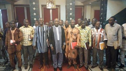 Rencontre syndicat gouvernement au burkina