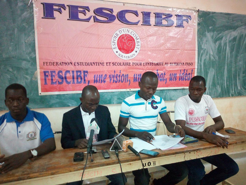 Universités publiques du Burkina Faso:  La FESCIBF exige le retrait de la CRS