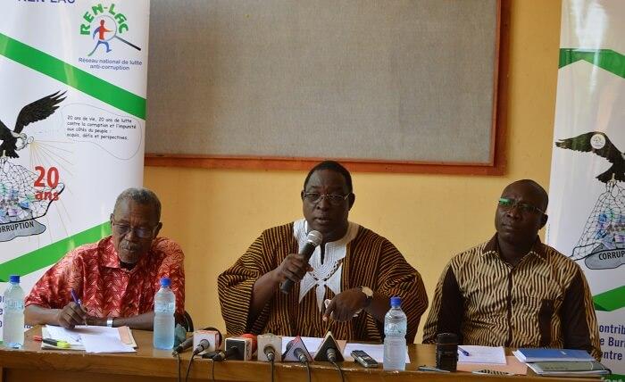 Corruption au Burkina :  REN-LAC dénonce une impuissance étatique