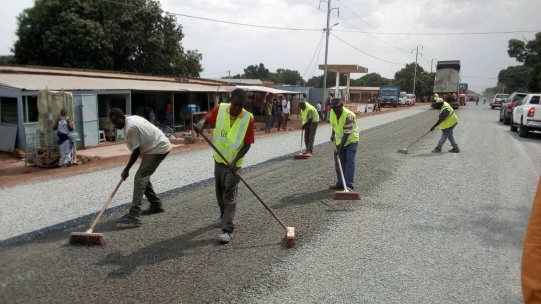Axe Banfora- Niangoloko- frontière CI :  Les chantiers avancent convenablement