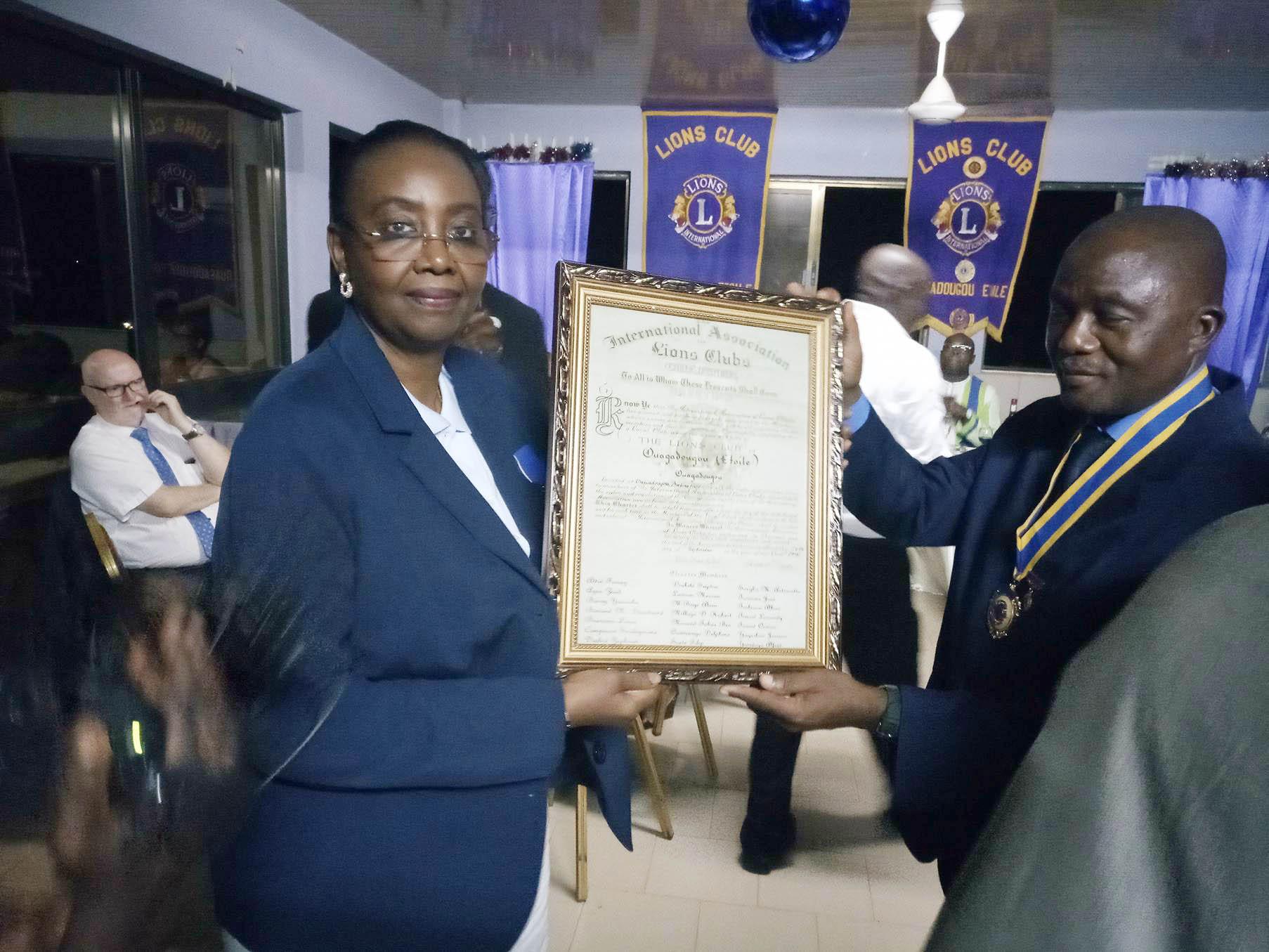 Lions club Ouagadougou Etoile: Mariama Sow, nouvelle présidente