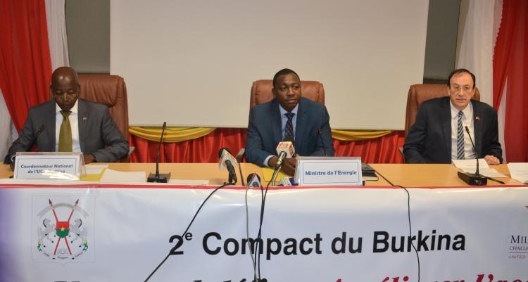 Second compact en faveur du Burkina : 3 projets axés sur l'électricité déposés sur la table du MCC