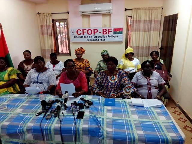 Marche-meeting du 29 septembre: Le grain de sel des femmes de l'Opposition