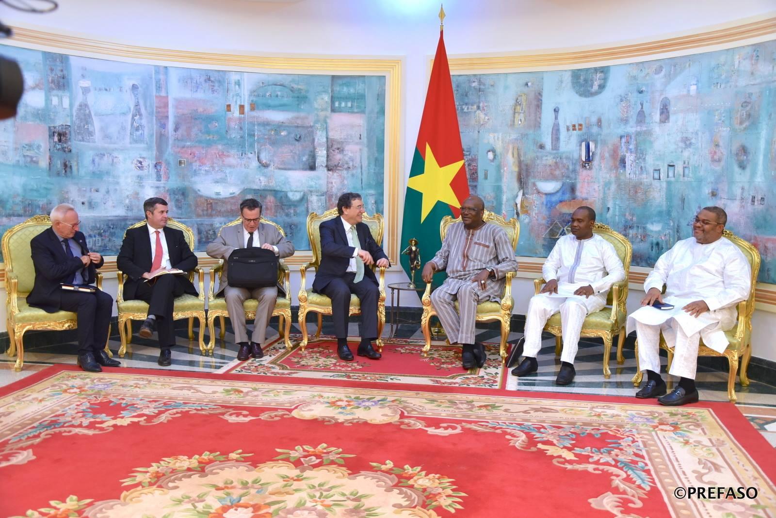 Présidence burkinabè du G5-Sahel en février: L'Union européenne échange avec le président du Faso