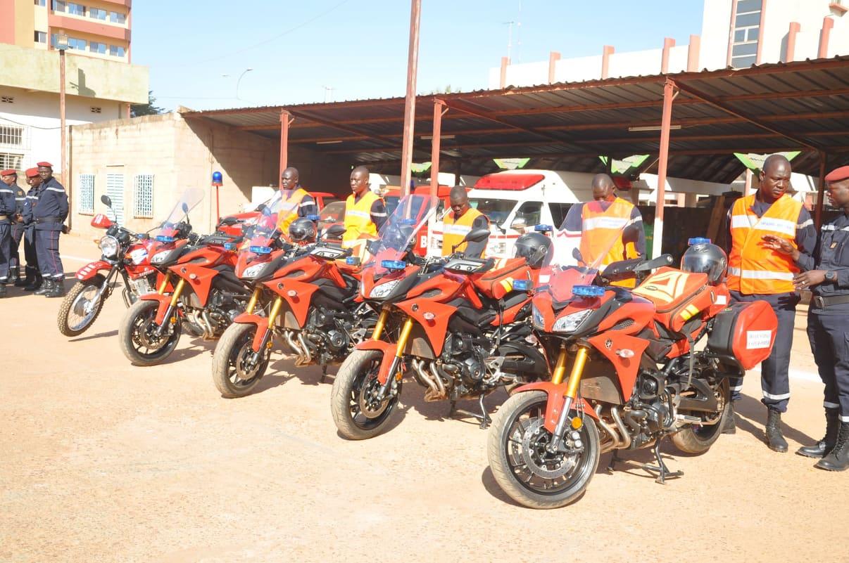 Brigade nationale de sapeurs-pompiers: Bientôt des «motos pan! pi!» dans les artères de Ouagadougou