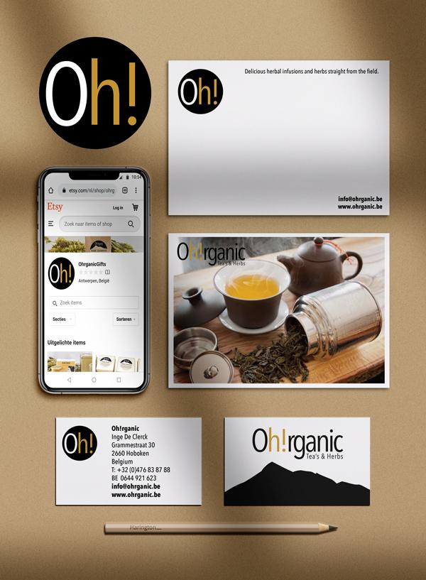Oh!rganic Tea's and Herbs Branding