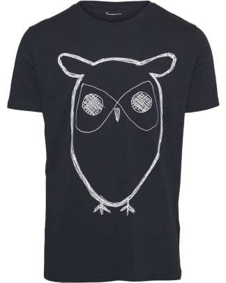 Knowledge Cotton Apparel Big Owl t-shirt
