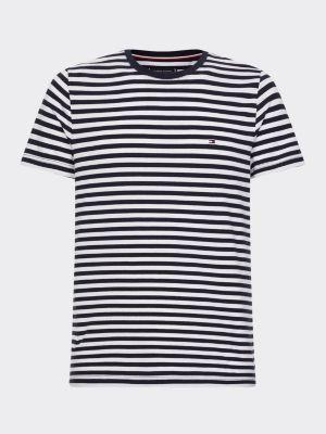 Tommy Hilfiger Organic Cotton Stripe T-Shirt Navy