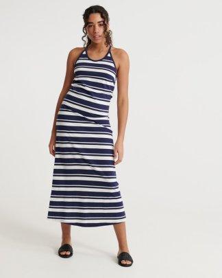 Superdry Summer Stripe Maxi Dress Navy