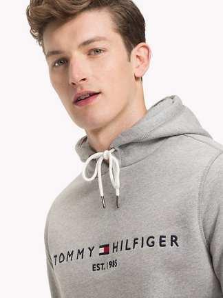 Tommy Hilfiger Drawstring Loog Hoodie Could htr