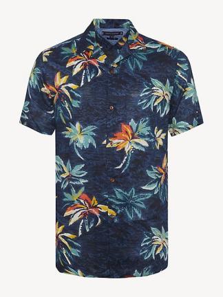Tommy Hilfiger Tropical Print LInen Shirt