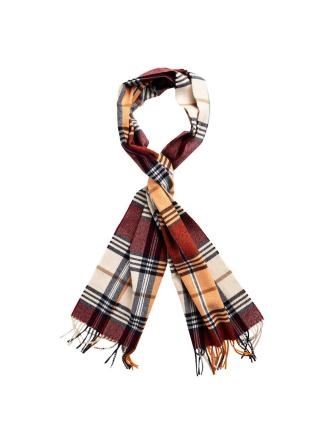 Gant checked wool scarf
