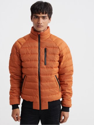 Superdry commuter quilted bomber jacket
