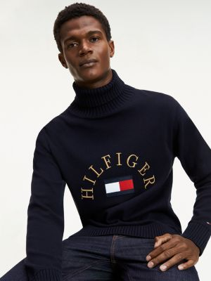 Tommy Hilfiger flag rollneck sweater