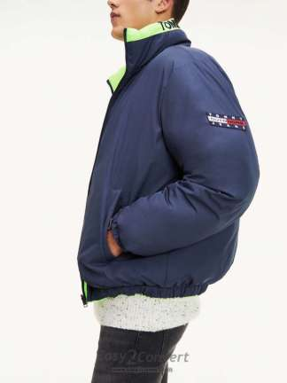 Tommy Jeans Reversible Jacket Dark Blue - Green