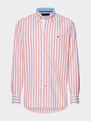 Tommy Hilfiger Cotton-Linen Shirt Red