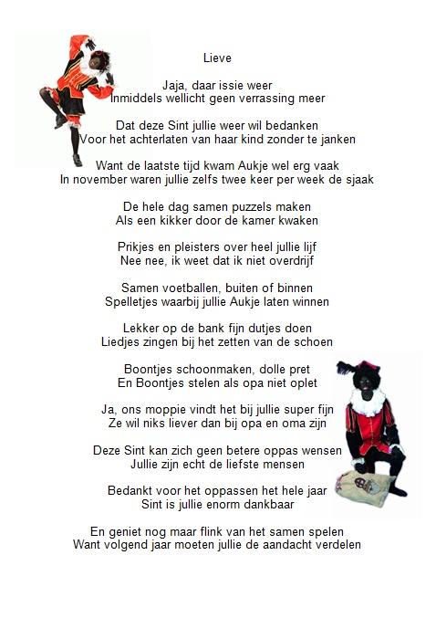 Sinterklaasgedichten 5 Make Up En Bedankje Opa En Oma