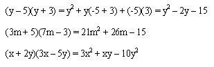 Producto de dos binomios que poseen un término común