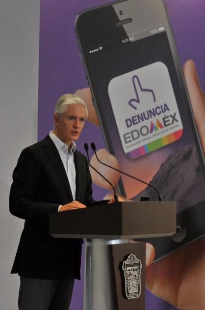 """Aplicación móvil """"Denuncia Edoméx"""" permitirá fortalecer la transparencia y combatir la corrupción en la entidad Alfredo del Mazo 4"""