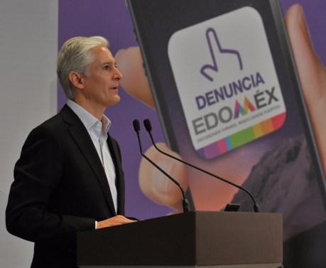 """Aplicación móvil """"Denuncia Edoméx"""" permitirá fortalecer la transparencia y combatir la corrupción en la entidad Alfredo del Mazo 5"""