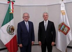 Sostiene reunión Alfredo del Mazo y Javier Jiménez Espriú para impulsar el aeropuerto internacional de Toluca