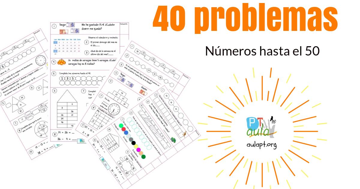 números hasta el 50 problemas
