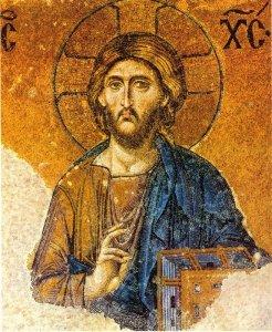 Le Christ Pantocrator de la mosaïque de la Déisis (XIIIe s.) à Sainte-Sophie (Istanbul, Turquie)