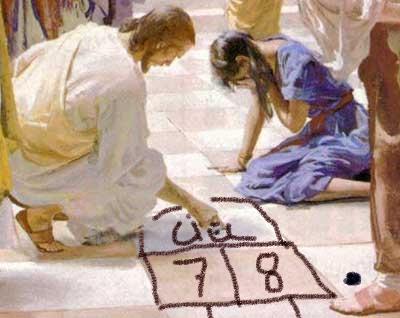 Jeu n°4 : Marelle au parvis du Temple