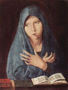 Antonello de Messine, Vierge de l'Annociation, 1475