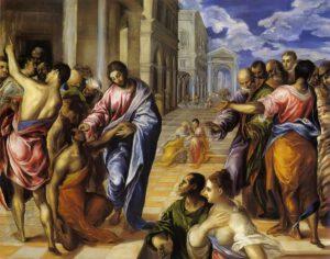 Guérison d'un aveugle, El Greco, 1570