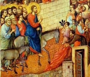 Duccio di Buoninsegna, Entrée de Jésus à Jérusalem, 1310