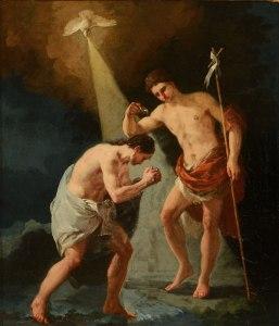 Francisco de Goya, le baptême du Christ, 1780