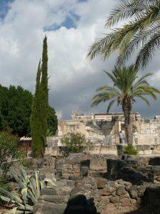 Capharnaüm, vue sur l'ancienne synagogue (IV°s.)