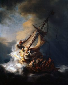 Rembrandt, -Le Christ dans la tempête sur la mer de Galilée, 1633