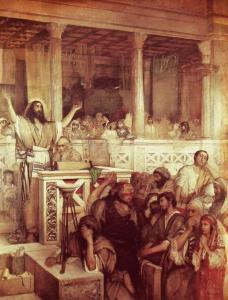 Christ Preaching at Capernaum, Maurycy Gottlieb, 1879