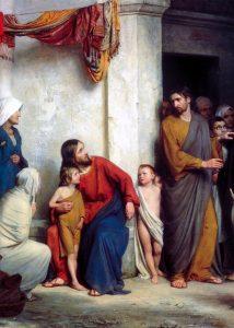 Carl Bloch, Suffer The Children, 1800