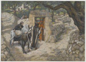 James Tissot, L'ânon de Bethphagé, 1894