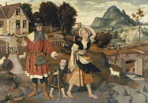 Jan Mostaert, le banissement d'Hagar, 1520