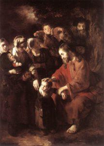 Nicolaes_Maes, le Christ bénissant les enfants, 1652.