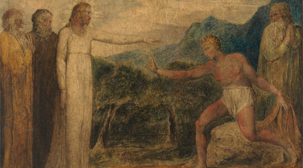 William Blake, Christ Giving Sight to Bartimaeus, 1800