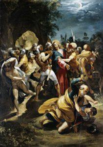 Cavalier d'Arpino, Christ fait prisonnier, 1597.