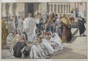 Scribes et pharisiens questionnant Jésus, Tissot,1894