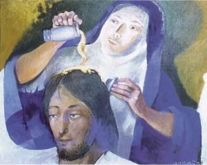 Arcabas, la femme au parfum, XXs.