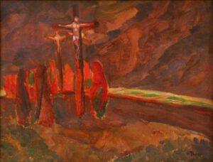 Jindřich Prucha, Crucifixion, 1912