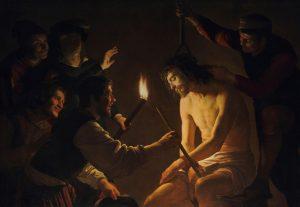Gerard van Honthorst, Jésus outragé, 1617