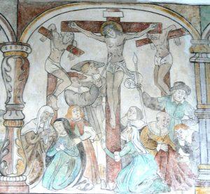 Eglise paroissiale de Brøns, Danemark, crucifixion, 16th