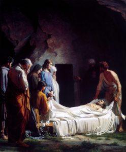 Burial of Christ, Carl Bloch, 1800
