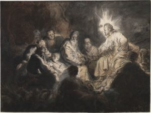 Rembrandt, Jesus et ses disciples, 1634